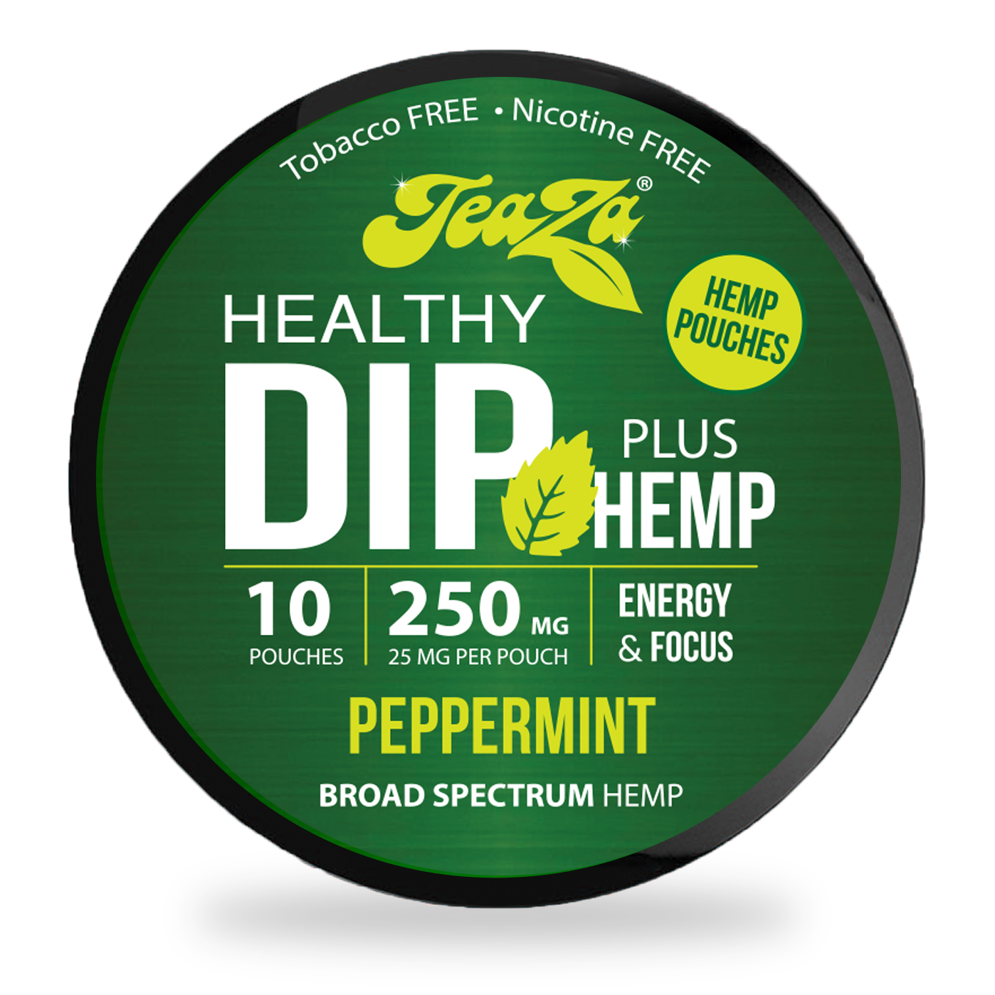 Peppermint TeaZa Hemp Dip Pouches